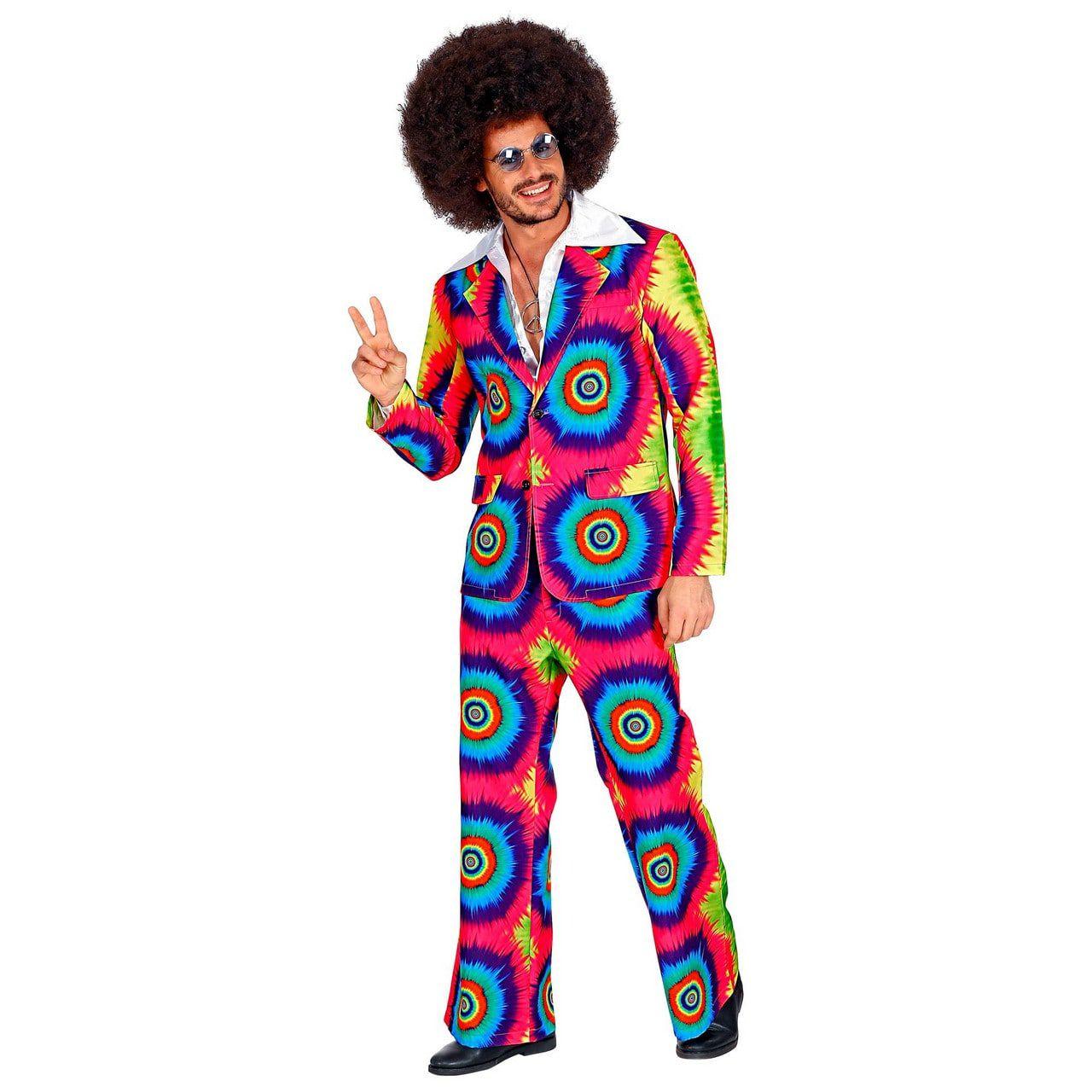 Psychedelisch Tie Dye Jaren 60 Man Kostuum