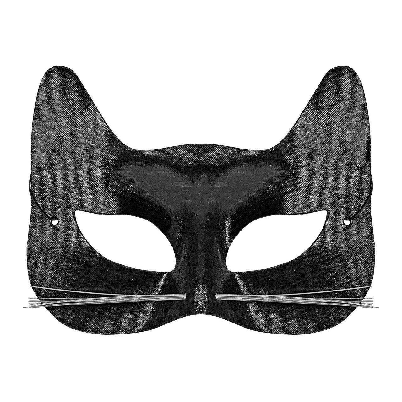 Oogmasker Zwarte Kat Met Snorharen