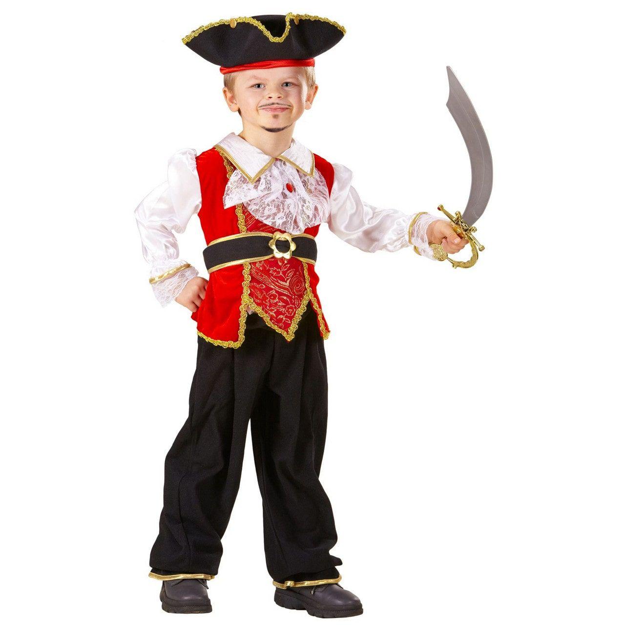 Erik Enter Zeerover Kapitein Jongen Kostuum