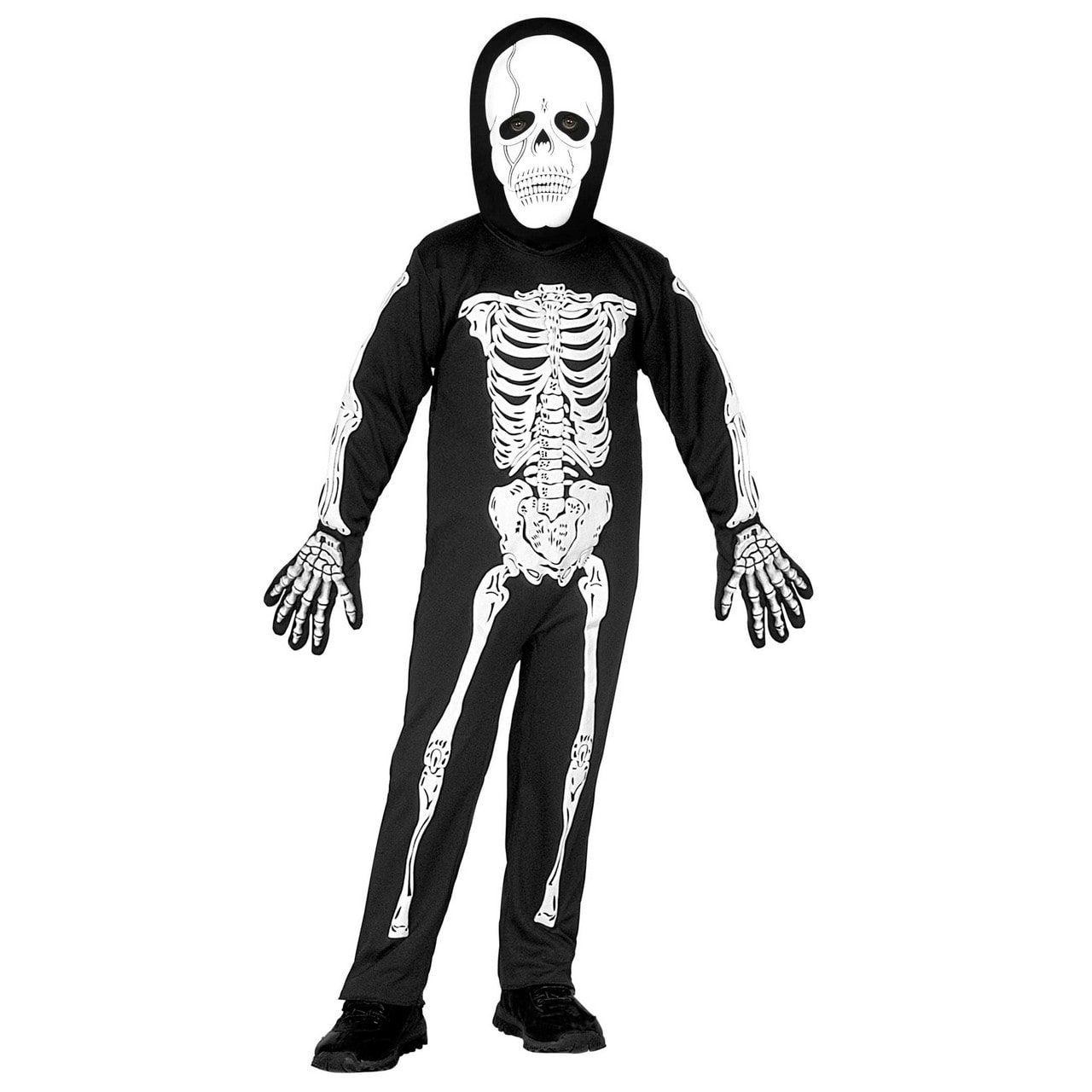 Gruwelijk Horror Skelet Rammelende Botten Kind Kostuum