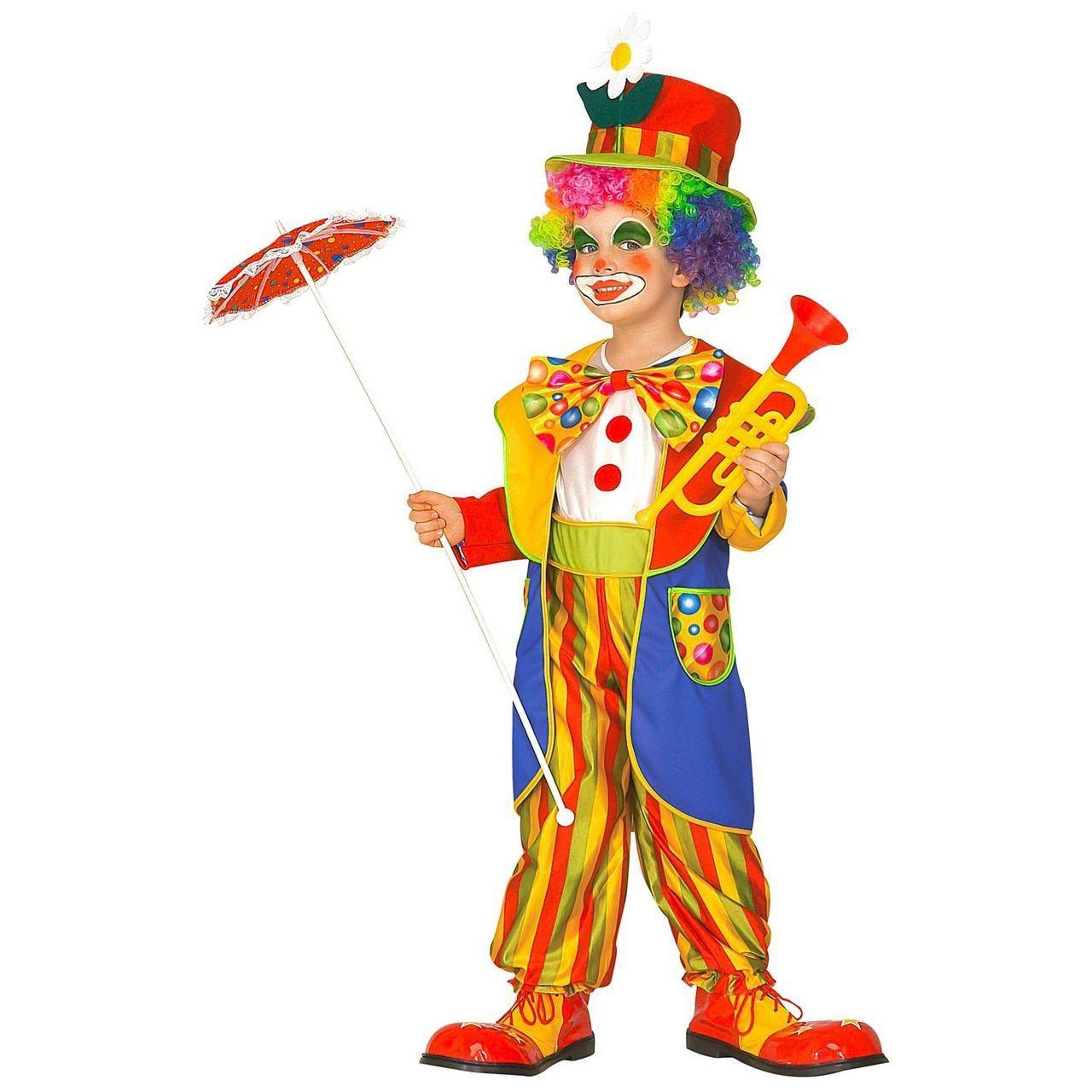 Knettergekke Clown Circus Boltini Kind Kostuum