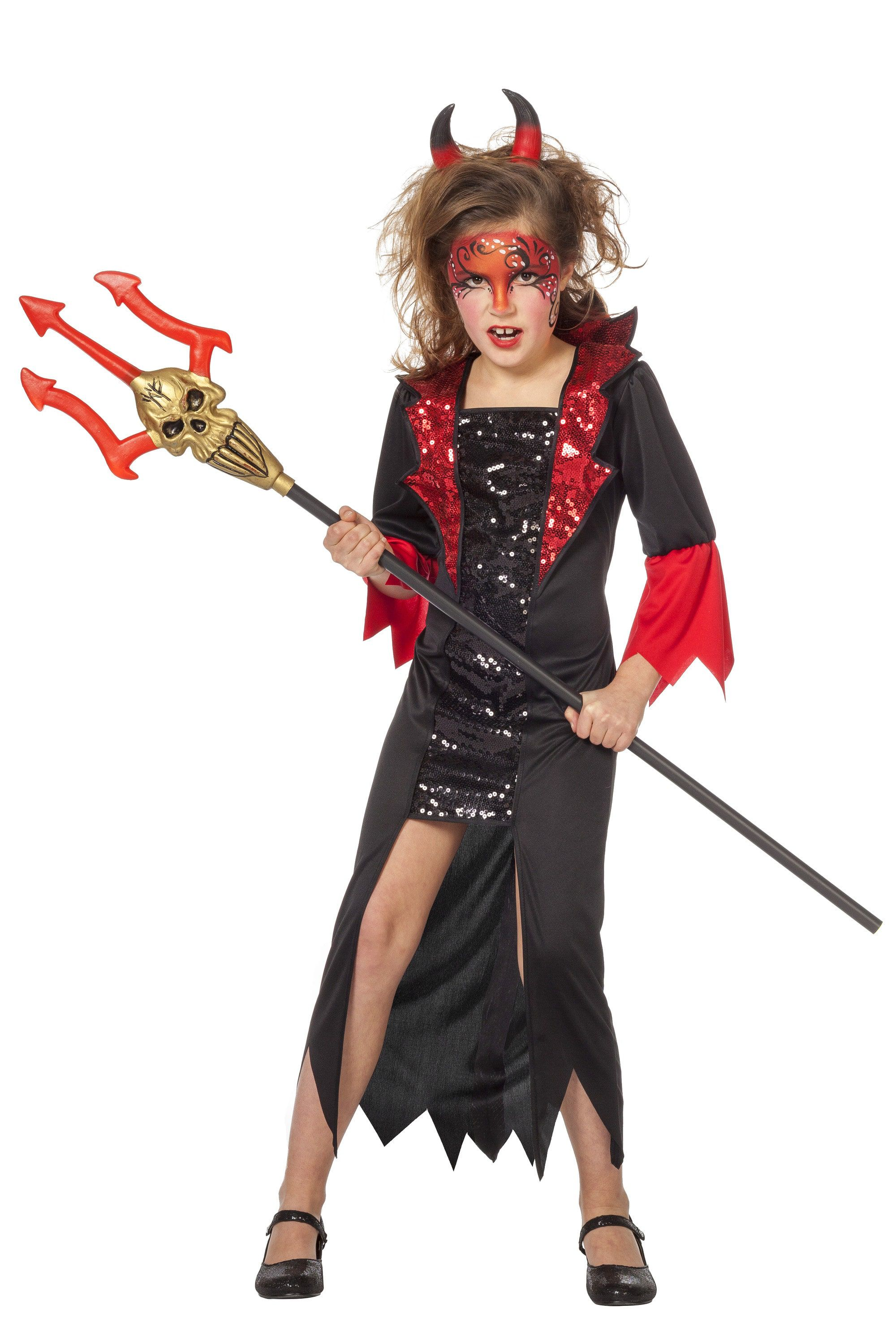 Duivelse Dame Meisje Kostuum