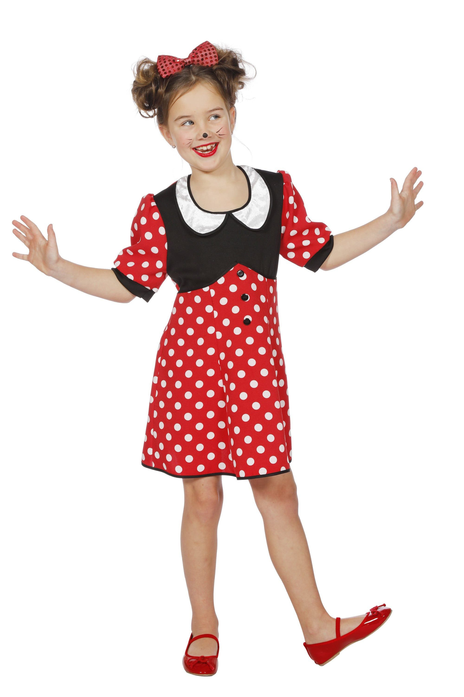 Minnie De Mooie Muis Meisje Kostuum