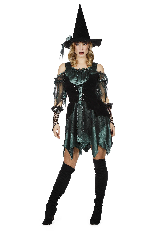 Keiharde Heks Groen Vrouw Kostuum