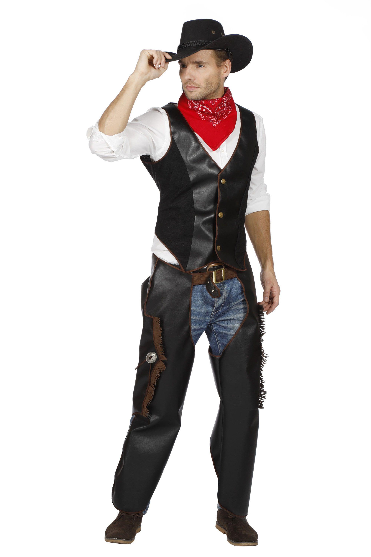 Lederen Leo Cowboy Wild West Man Kostuum