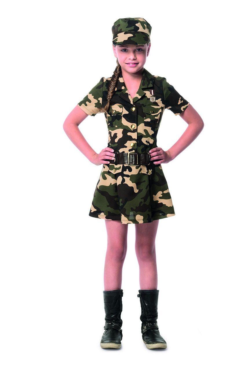 Camouflage Commando Karin Meisje Kostuum