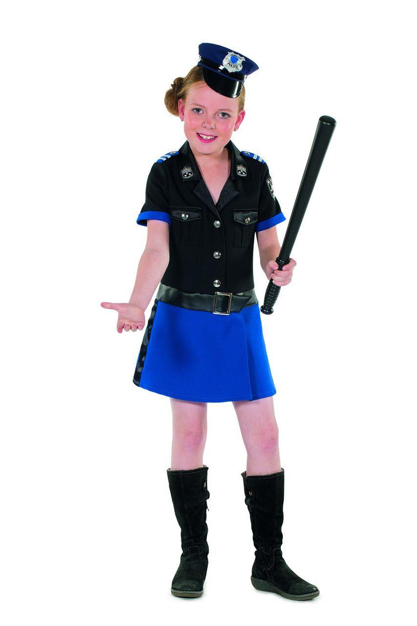 Politie Agente Emma Flits Meisje Kostuum