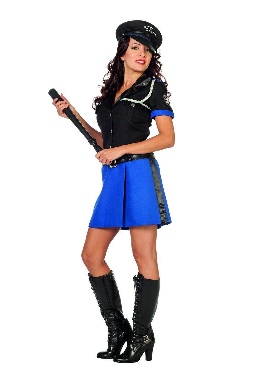 Handjes Thuis Politieagente Vrouw Kostuum