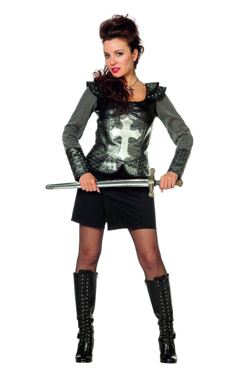 Roza Robuuste Ridder Vrouw Kostuum