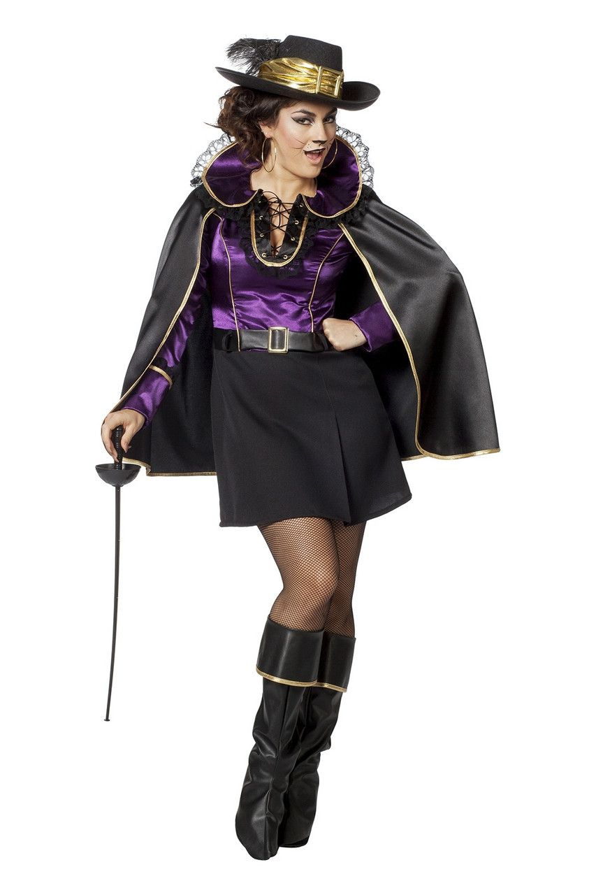Mademoiselle Musketier Poitiers Vrouw Kostuum