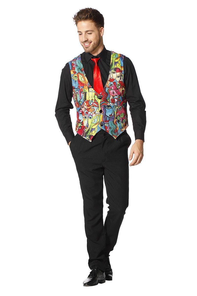 Vest Picasso Surrealistische Koppen Man