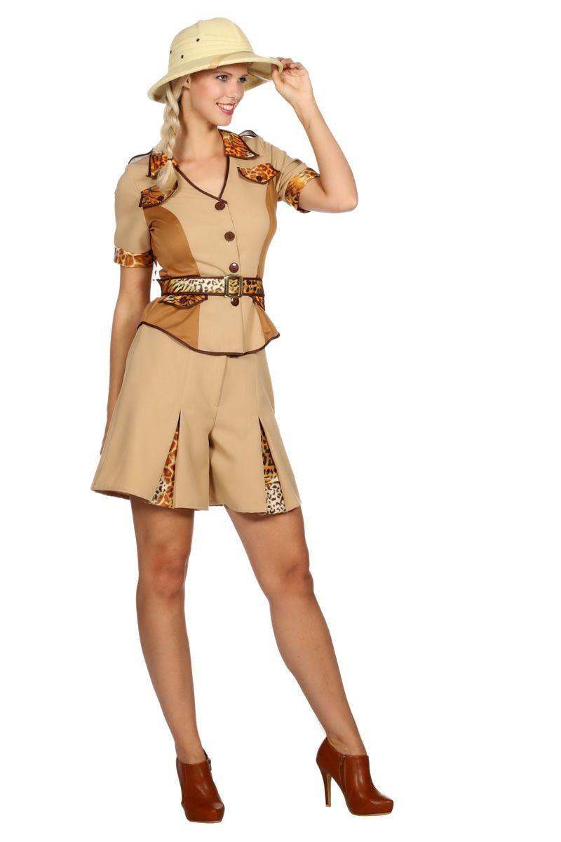 Smakelijk Hapje Voor Het Wild Safari Vrouw Kostuum