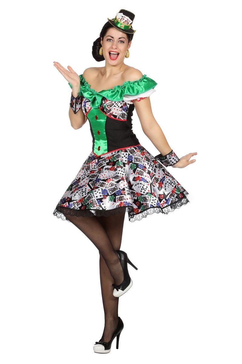 Full House Casino Poker Vrouw Kostuum