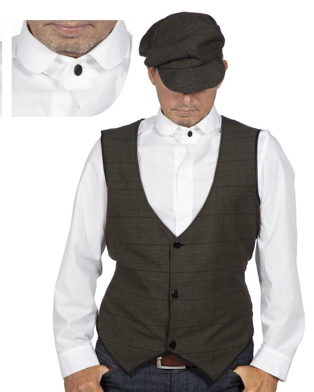 Roaring 20s Overhemd Met Stijve Boord Man