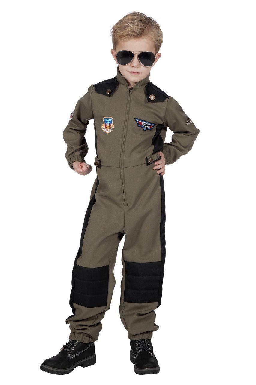 Maverick Top Piloot F35 Straaljager Kind Kostuum