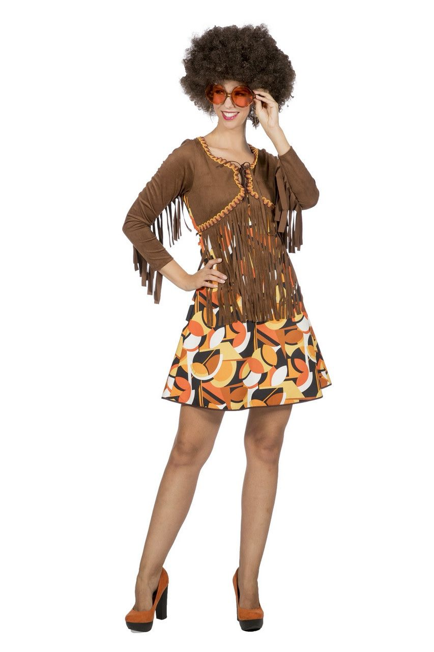 Fraaie Franjes Jaren 60 Hippie Patty Vrouw Kostuum