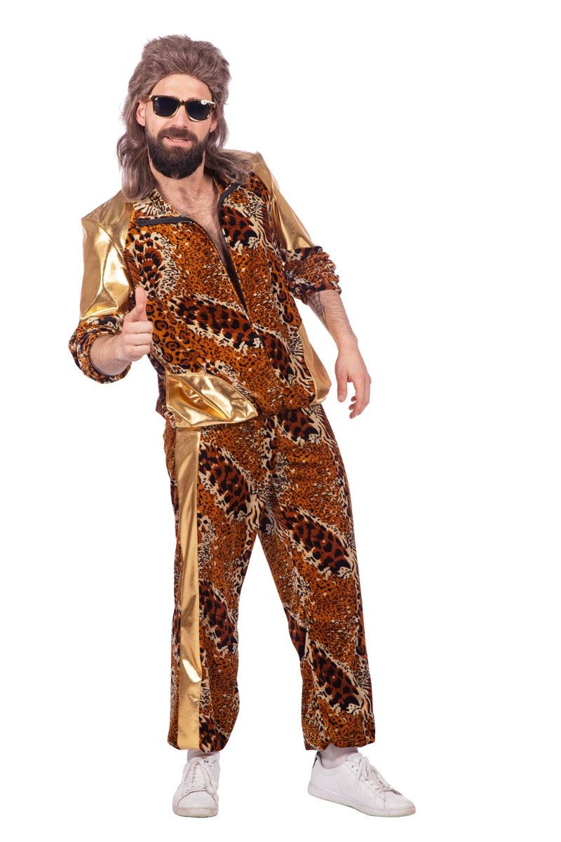Brabantse Camping Kitsch Panter Man Kostuum