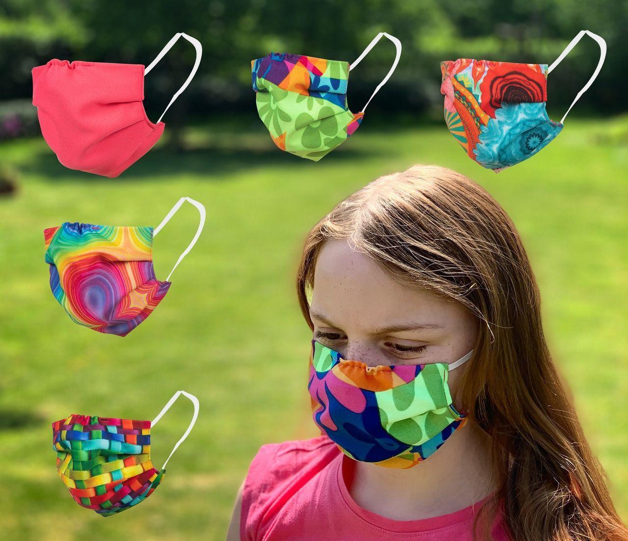 Set Van 5 Fleurige Mondmaskers Kind Kind