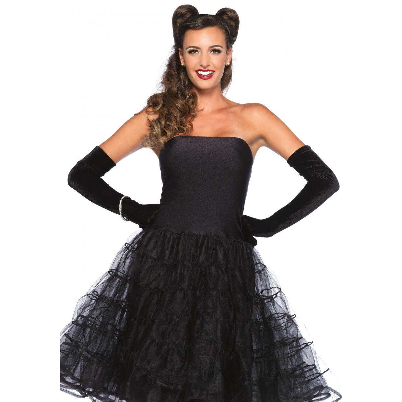 Zwart jurkje tule