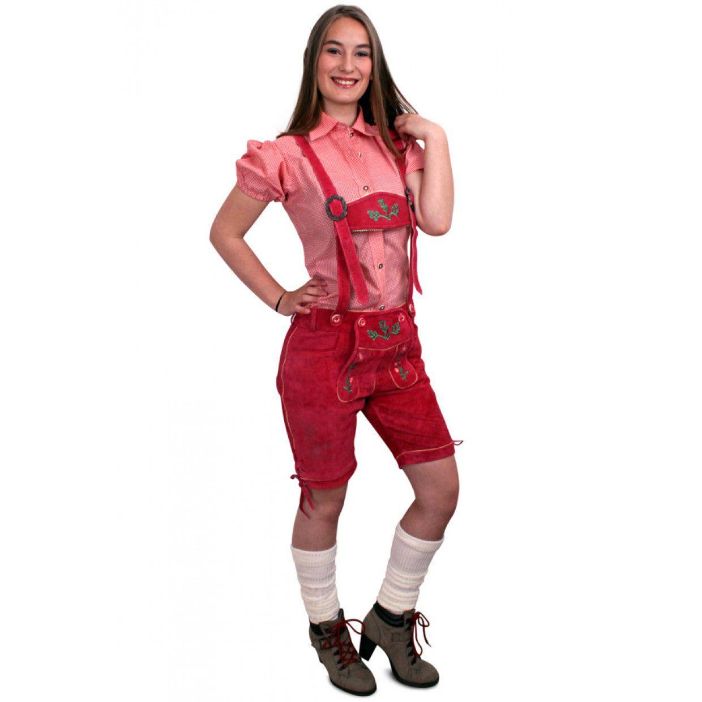 6b8aa24516152c Echt Lederen Roze Lederhose Kort Vrouw ==> Feestkleding365!
