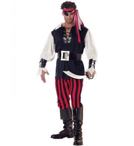 Mannen Cutthroat Piraat Man Kostuum