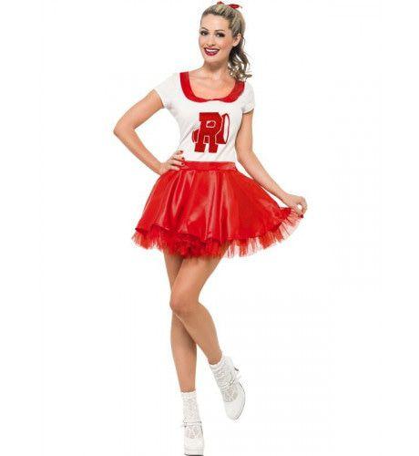 Sandy Uit Grease Als Cheerleader Vrouw Kostuum