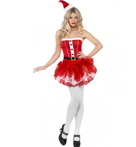 Miss Kerstman Kostuum-Tutu Vrouw