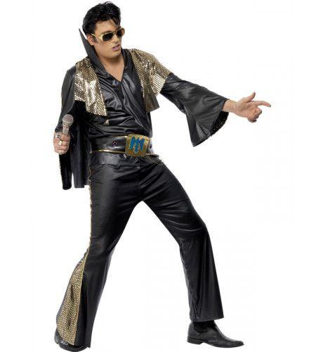 Officieel Elvis Zwart Man Kostuum