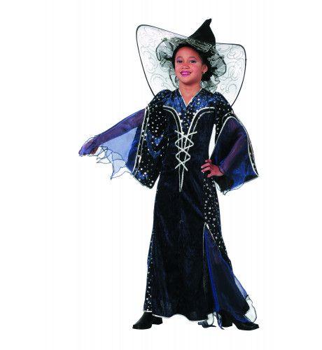 Leerlinge Tovenaarsmeisje Sterren Blauw Kostuum