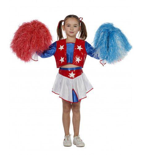 Amerikaanse Cheerleader Galaxy Meisje Kostuum