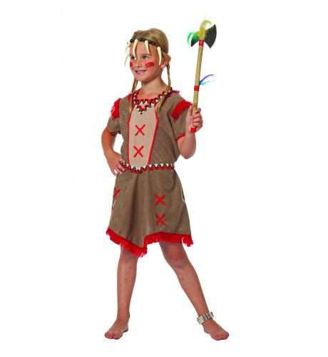 Indiaanse Minnehaha Zittende Stier Meisje Kostuum