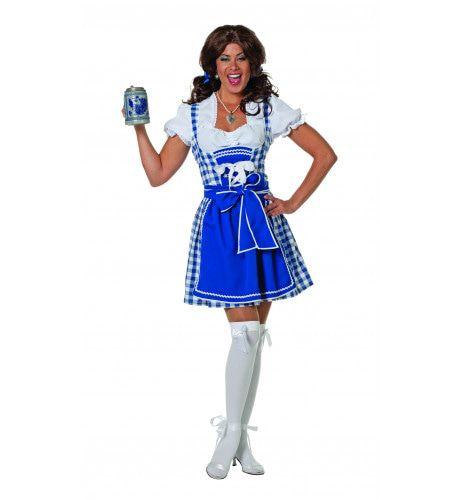 Blauwe Dirndl Brigitte Das Biermachen Vrouw Kostuum