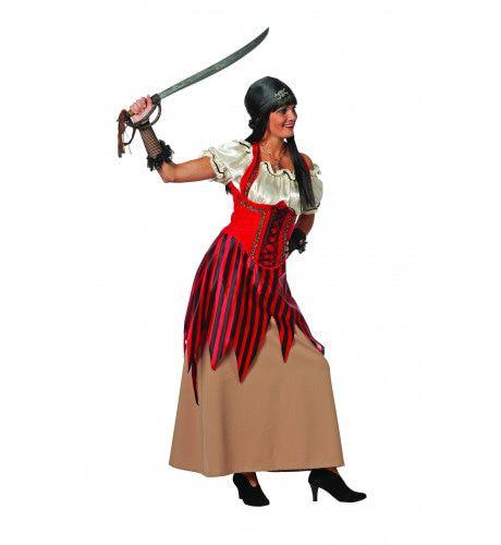 Lange Jurk Pirate Syren Vrouw