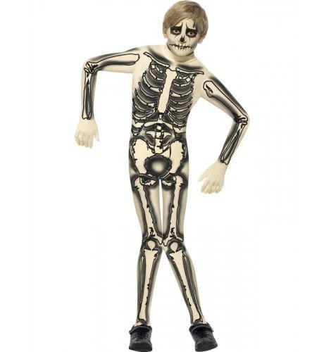 Skelet Second Skin Pak Wit Jongen