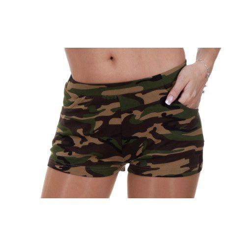 Commando Hotpants Bedrukt Vrouw