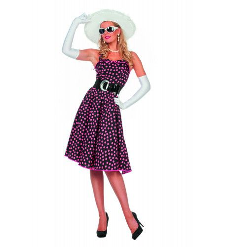 Zonnige Rock & Roll Ava Vrouw Kostuum