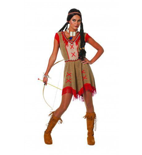 Indiaanse Minehaha Kuis Kind Vrouw Kostuum
