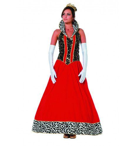 Ball Masquee Koningin Lang Vrouw Kostuum