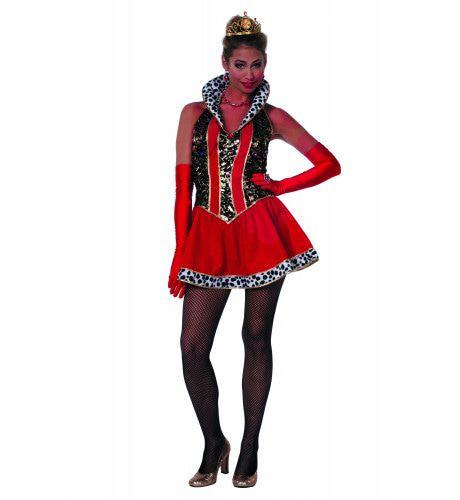 Ball Masquee Koningin Kort Vrouw Kostuum