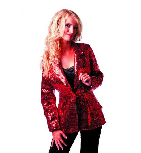 Showmaster Paillettencolbert Luxe Rood Vrouw