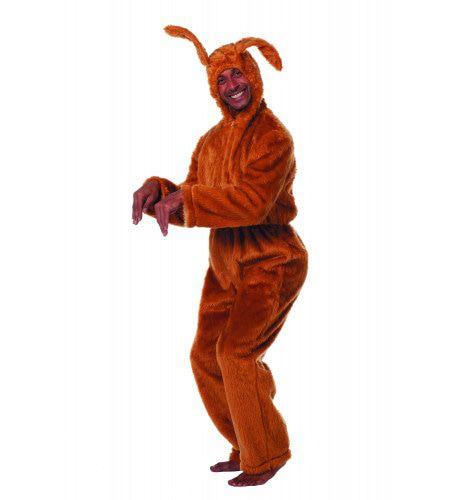 Bruine Dolle Paashaas Man Kostuum