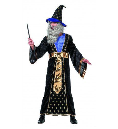 Traditionele Tovenaar Met Hoed Man Kostuum