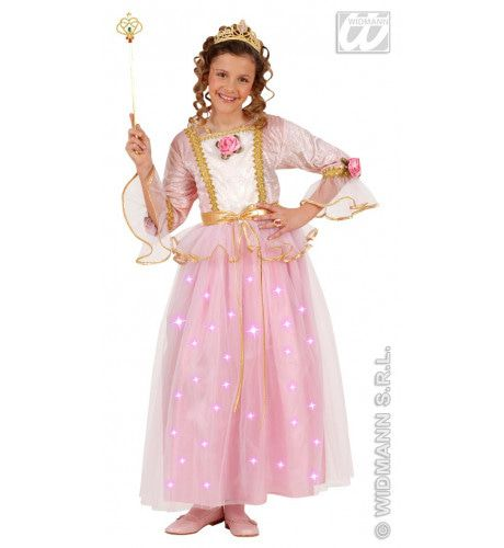 Roze Prinses, Fiberoptisch Ms Pink Kostuum
