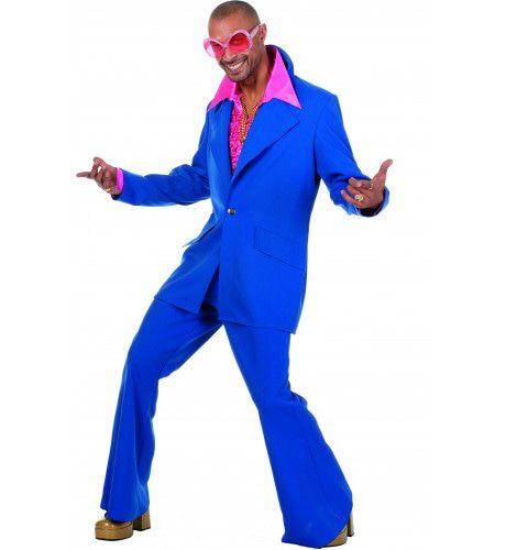 Dancing Blue Disco Fever Man Kostuum