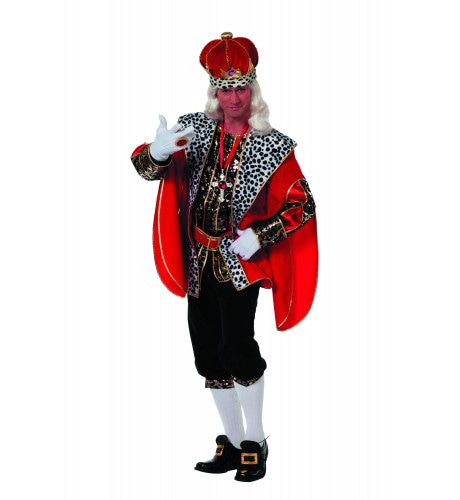 Engelse Koning Tudor De Luxe Man Kostuum