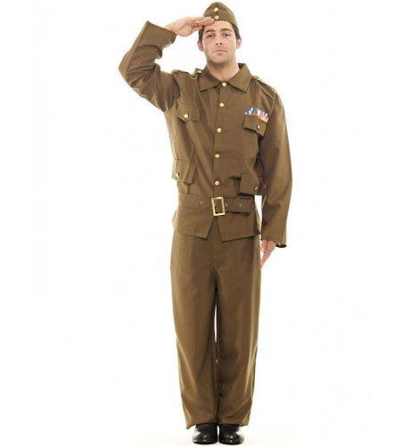 Britse Landmacht Man Kostuum