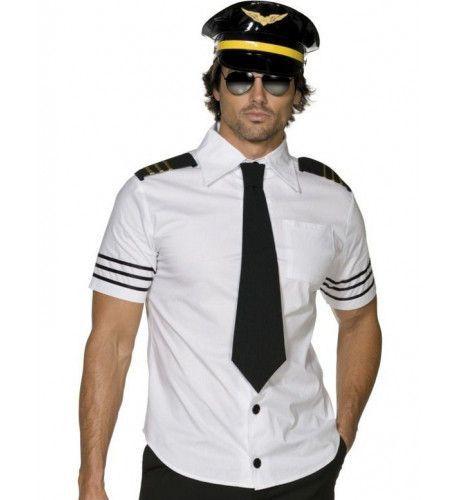 Sexy Piloot Man Kostuum