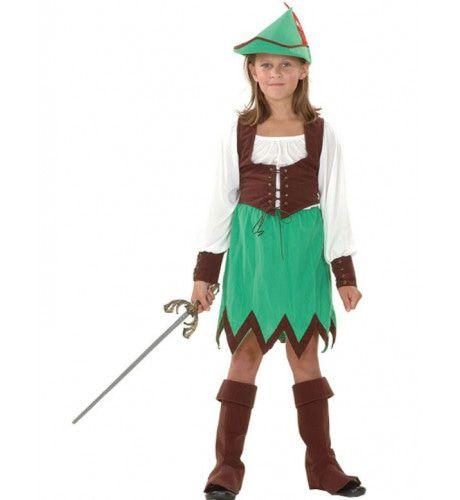 Robin Hood Meisje Kostuum