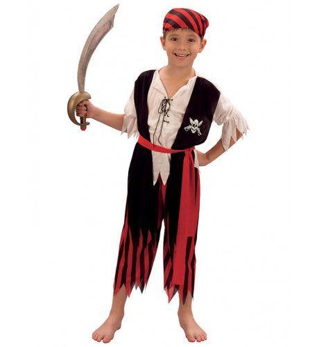 Piraatjongen Jim Jongen Kostuum