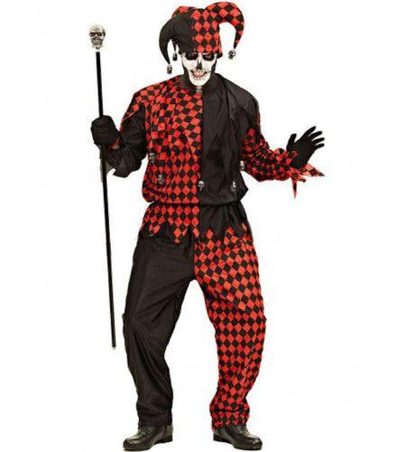 Sinister Jester Halloween Man Kostuum